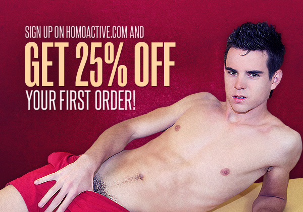 Create an account on Homoactive.com and receive 25% discount on your first order!